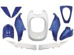 Bodyworkset Sym Mio White and Blue Metallic 10 Pieces