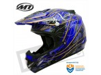 MT MX-1 Cross Helmet Shiney Black Blue