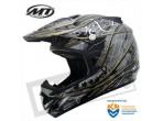 MT MX-1 Cross Helmet Shiney Black Grey
