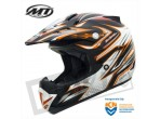 MT MX-1 Cross Helmet Black / Orange